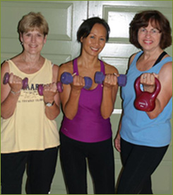 Women With Dumbbells